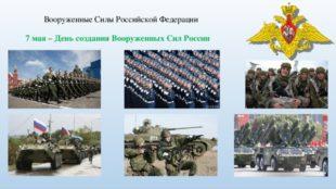 День создания Вооруженных Сил Российской Федерации
